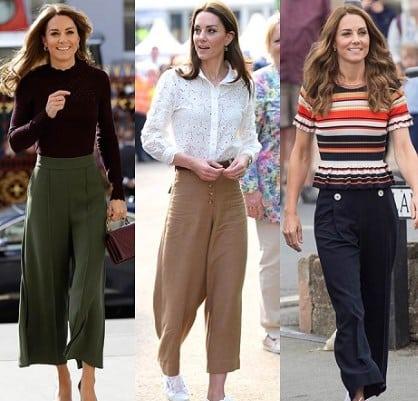 Pakai Celana Kulot ala Kate Middleton
